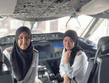 没有女司机的沙特 迎来文莱首架全女性驾驶航班