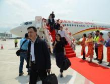 博鳌机场迎来首个航班正式试运行 服务2016博鳌亚洲论坛