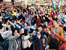 6000中国游客飞赴韩国开炸鸡啤酒派对 创单团旅游人数之最