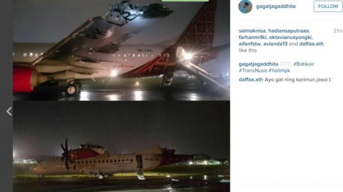 蜡染航空的波音738机翼起火,atr42波音737飞机垂直尾翼被