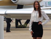 亚洲公务航空大会 豪机与美女齐飞