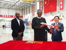 尼日利亚总统布哈里到中国商飞访问