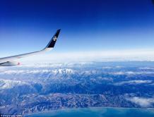 新西兰航空乘客拍摄绝美高空照片(组图)