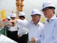 中国民航局副局长王志清调研北京新机场工程进展情况