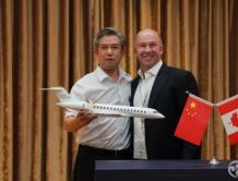 中航工业总经理谭瑞松会见庞巴迪总裁阿兰·贝勒马尔