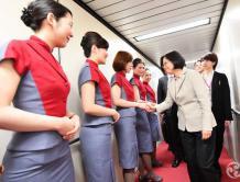 罢工日为蔡英文专机服务 工会将专机上10名空姐除名