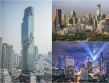 """泰国第一高楼曼谷凹凸楼完工 强迫症者""""要跳楼"""""""
