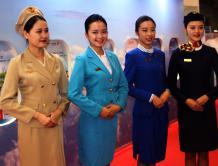 世界航线发展大会国航空姐上演制服秀
