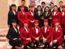 黑龙江第一家本土航空龙江航空首航成功 空姐颜值高