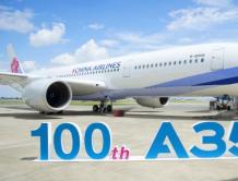 空中客车将第100架A350XWB交给中华航空