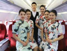 红土航空推出头等舱 空姐穿旗袍服务