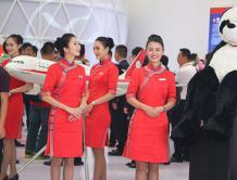 首届四川航展举行 一大波当地美女空姐亮相
