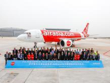 空中客车亚洲总装线首架A320neo飞机于天津交付亚洲航空
