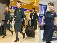 长荣航空启用第三代制服 空姐增加领巾
