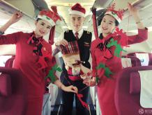 红土航空开展机上圣诞主题活动  旅客享受梦幻之旅