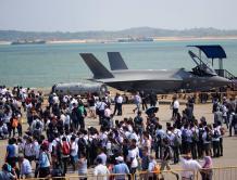 美国F-35B亮相新加坡航空展 首次现身东南亚