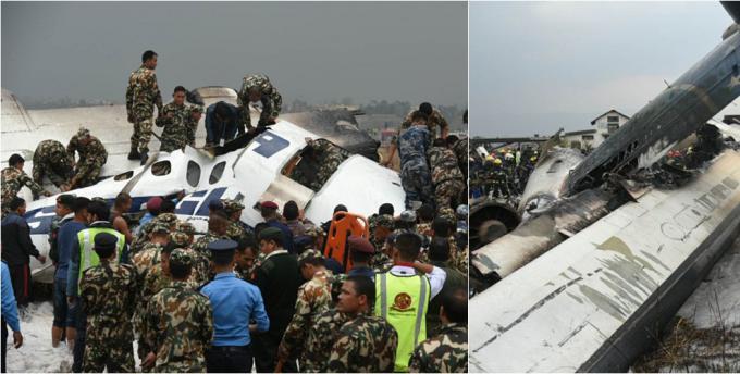尼泊尔坠毁客机已49人死亡 22人在医院治疗