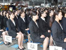 日本两大航空集团4000多名新员工入职 空姐最引人