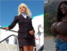 """白人空姐整容变黑人 成为欧洲第一大胸 新名""""大天使"""""""