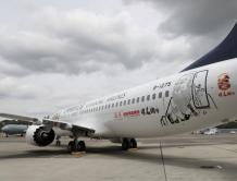 """山东航空首架737MAX交付 系全球首架""""孔子文化主题飞机"""""""