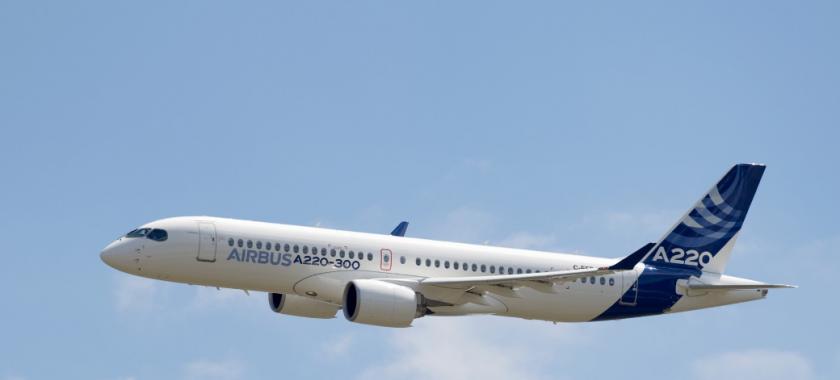 加拿大生产的飞机加入空中客车家族 空客A220飞机亮相
