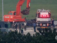 韩国军用直升机刚起飞就坠毁 坠地瞬间爆炸 5死1伤
