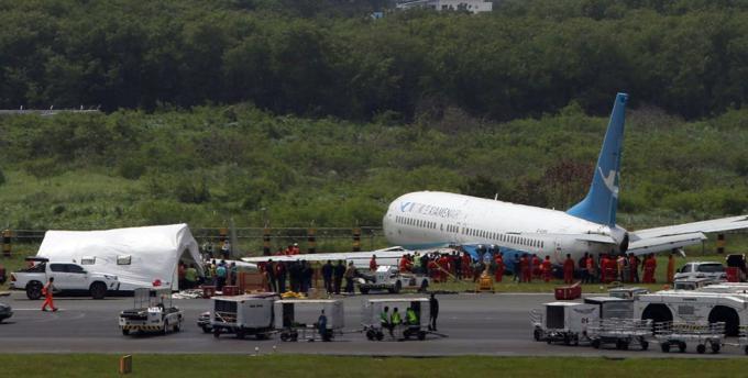 厦门航空客机马尼拉降落冲出跑道 落地前曾空中盘旋1小时