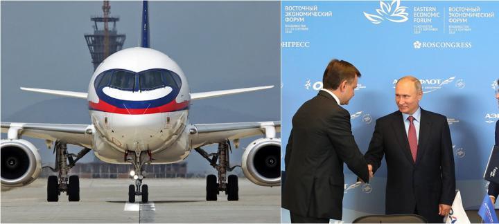 俄罗斯航空支持国产支线飞机 再订购100架SSJ100