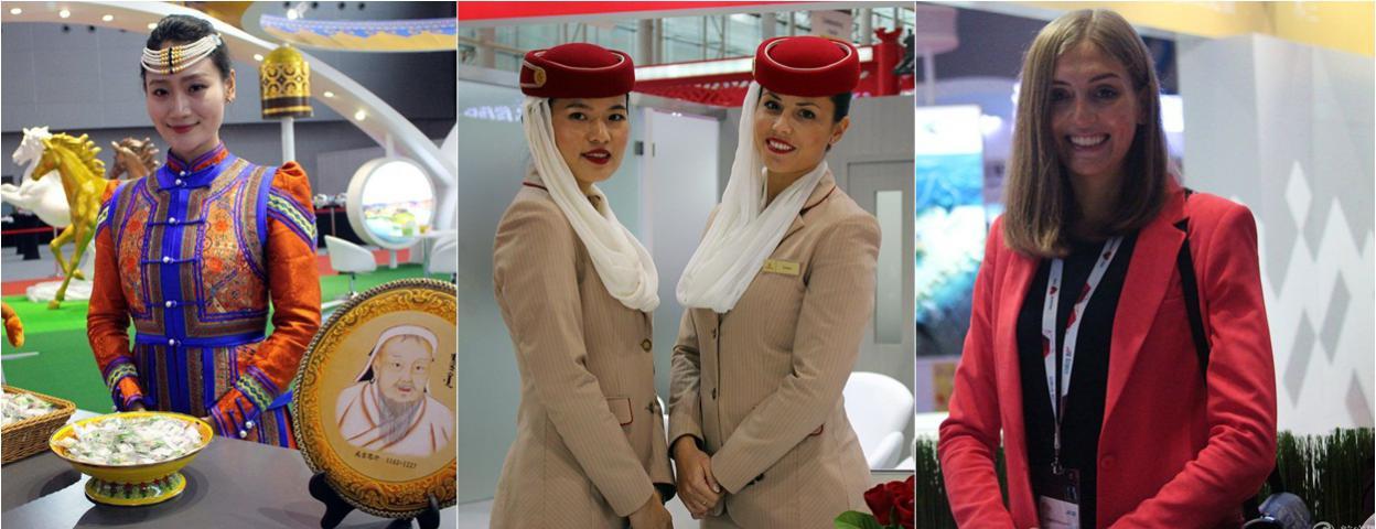 世界知名机场广州比拼魅力 美女与野兽齐上阵