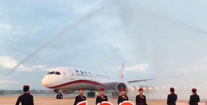 东航首架波音787-9抵达上海 成为上海航空第100架飞机