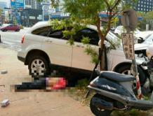 赶着去机场!台湾男子疲劳驾驶冲上人行道 45岁女子命危