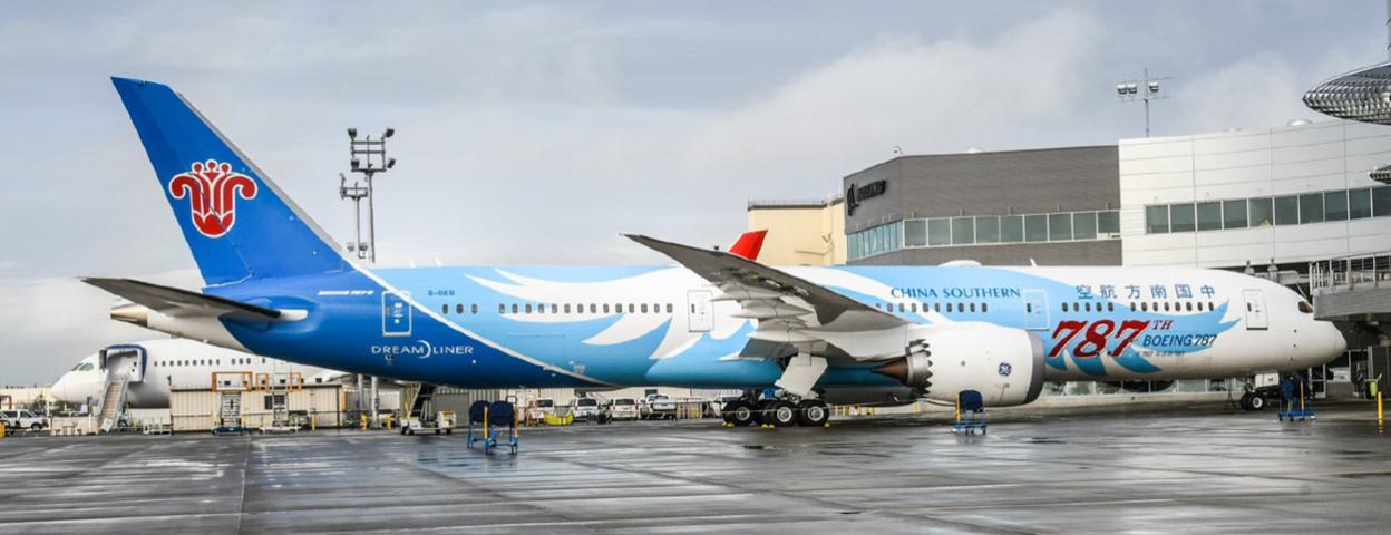 波音第787架787梦想飞机交付中国南方航空