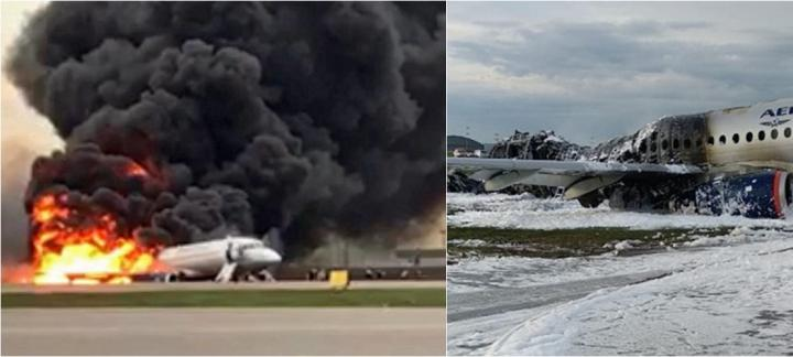 俄罗斯航班紧急降落时起火 41人人罹难包括1名空乘
