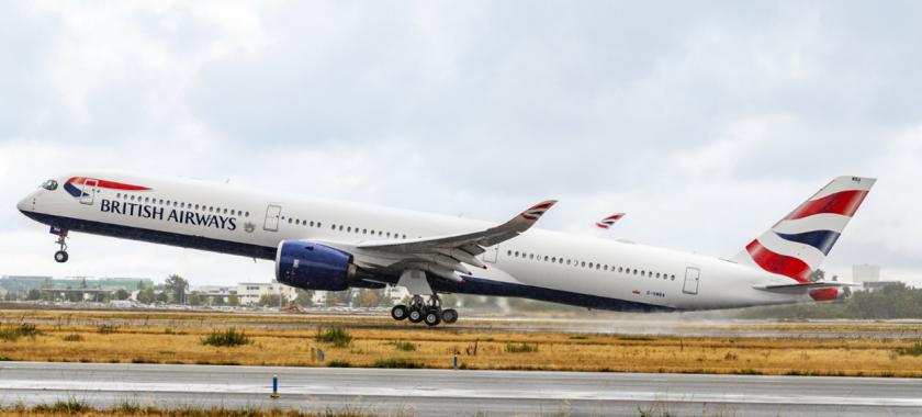 宽体新时代 英国航空接收其首架A350-1000