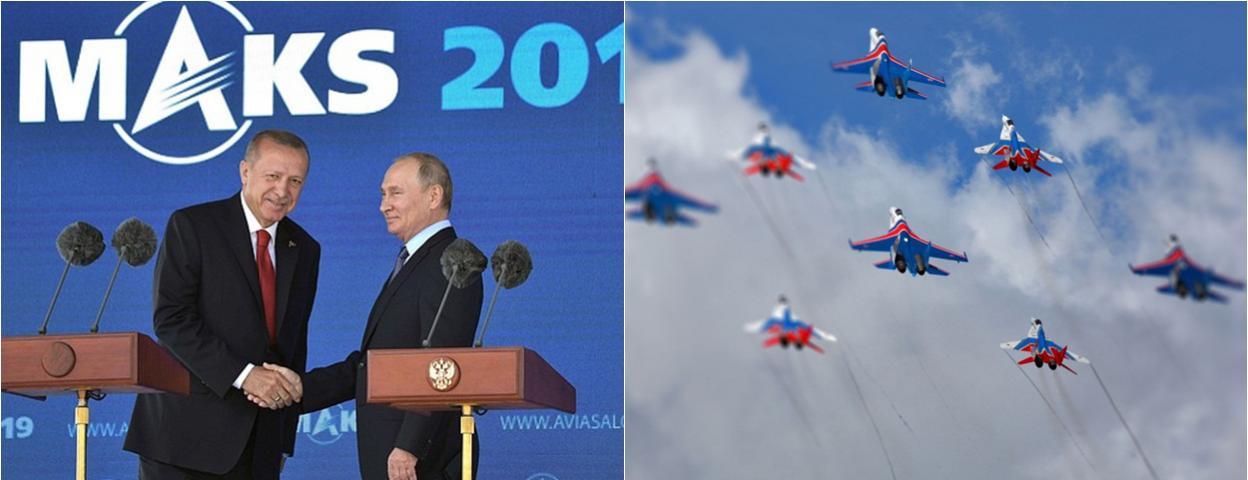2019年莫斯科国际航空航天展开幕 俄罗斯总统普京出席