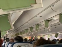 吓死!达美航空班机骤降9000米 乘客惊慌失措