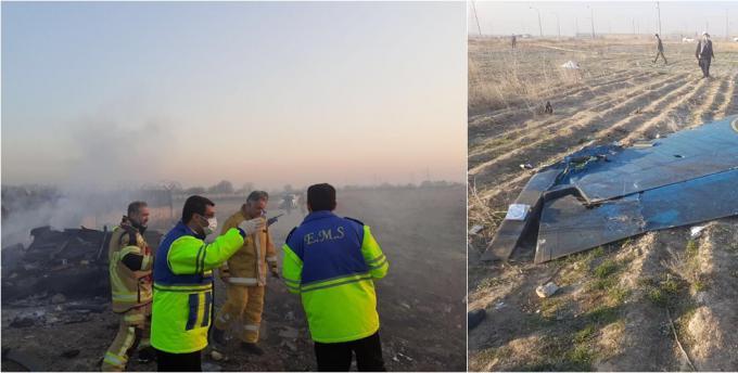 乌克兰一架波音737客机在伊朗坠毁  机上176人全部遇难