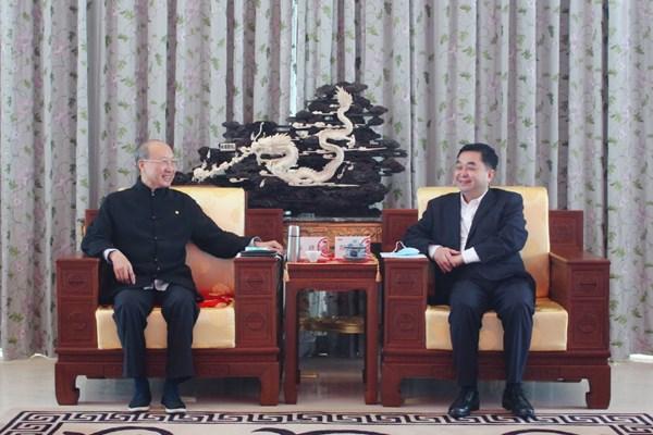 海航集团董事长陈峰会见陕西铜川市常务副市长郝光耀