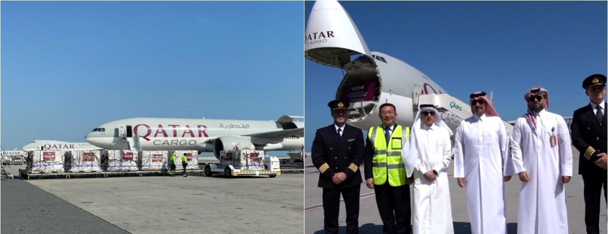 卡塔尔航空1天派出5架货机向中国运载抗疫医疗物资