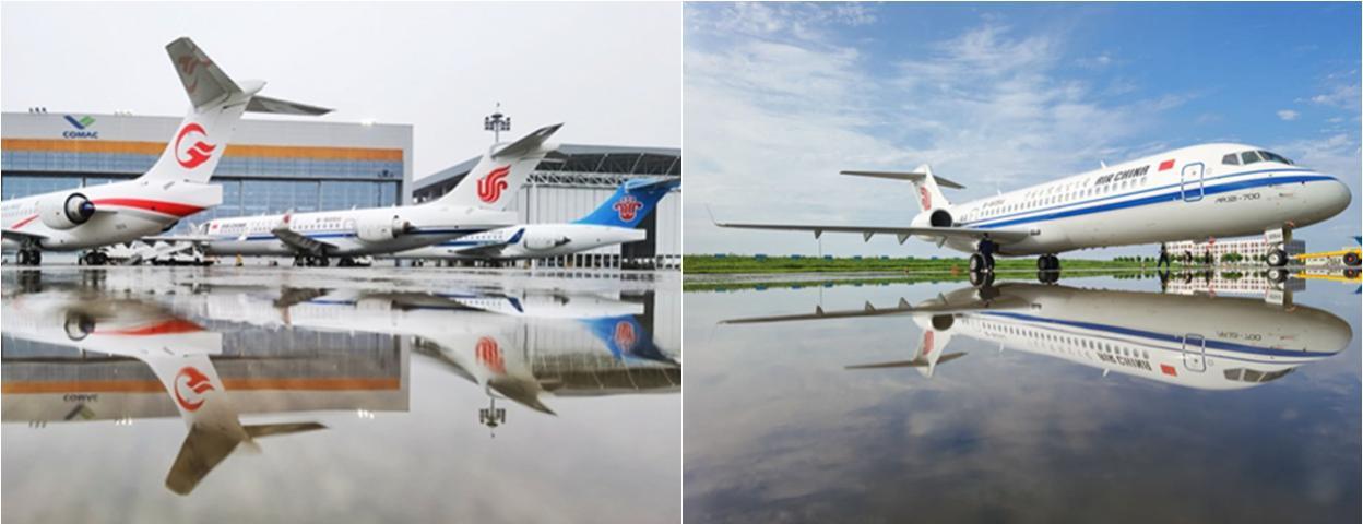 中国国产ARJ21飞机正式入编中国三大航空公司机队