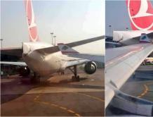 中东航空空客A330在非洲机场撞上土耳其航空波音777