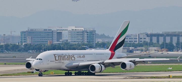 阿联酋航空A380客机重返广州航线