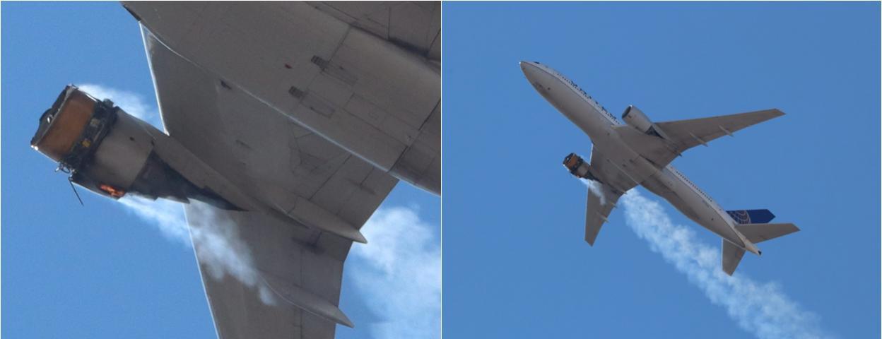突发!美联航波音777客机一个发动机空中爆炸 紧急返航
