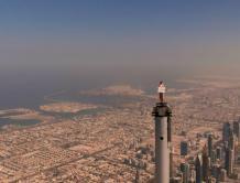 """阿联酋航空""""空姐""""登顶世界最高建筑大胆拍摄广告解密"""