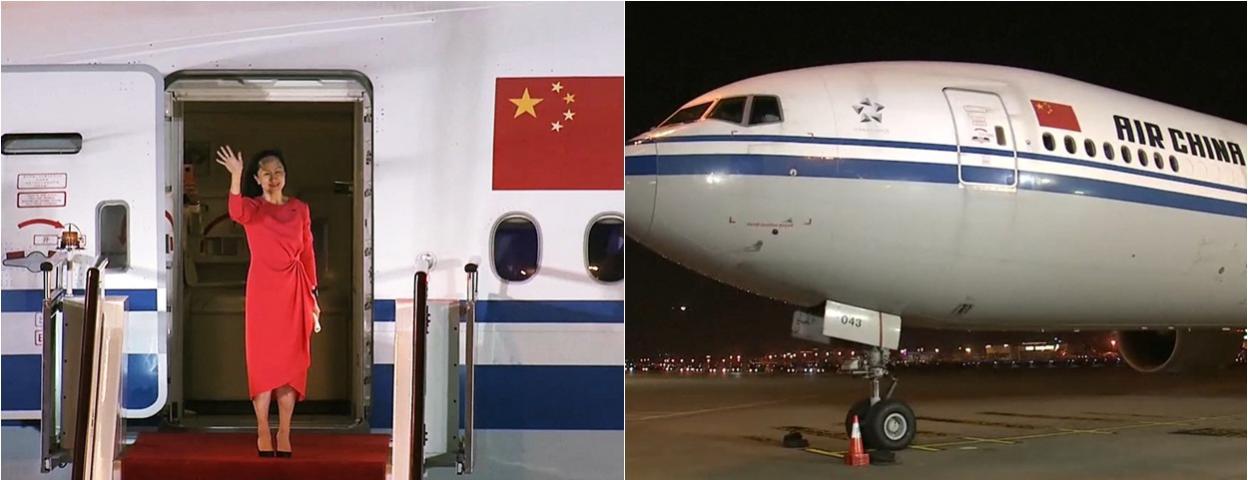 孟晚舟获释乘坐中国政府包机回国 避开美国领空经北极回家